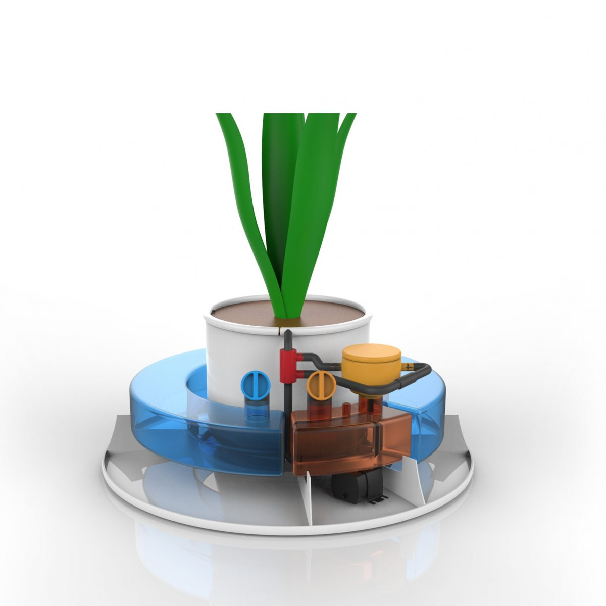 pianta vaso automatico